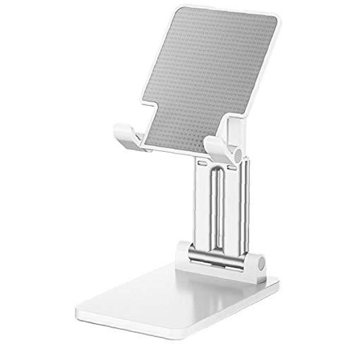 shentaotao Escritorio sostenedor del teléfono móvil Plegable reemplazo Ajustable Antideslizante para el Soporte del iPad iPhone teléfono Blanco