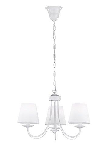 Trio Lighting Cortez Lámpara Colgante E14, 28 W, Blanco, 47 x 47 x 150 cm