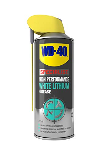 WD-40 Specialist, White Lithium Grease with Smart Straw, Heavy Duty Lubrication & Protection, 400ml