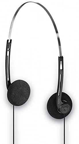 Hama Basic4Music Schwarz, Silber Ohraufliegend Kopfband - Kopfhörer (Ohraufliegend, Kopfband, Verkabelt, 20 - 20000 Hz, 1,2 m, Schwarz, Silber)