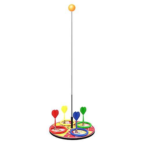Ardentity - Allenatore di Tennis da Tavolo con Manico Morbido ed Elastico, Multifunzionale, Gioco di Relax con 2 Pallet da Ping Pong e 6 Palline da Ping Pong per Sport di Relax