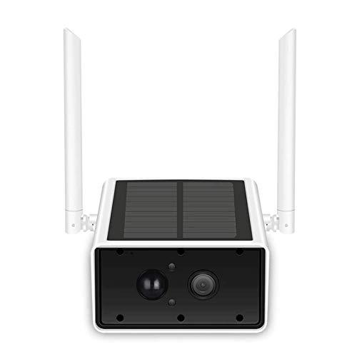 HLSH Cámara IP Inalámbrica WiFi, 1080p Cámara De Seguridad Solar Al Aire Libre Detección De Movimiento CCTV Vigilancia De La Bala