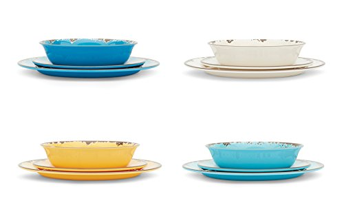 Fox Run 48734 - Vajilla, melamina, Multicolor, 12-Pieces