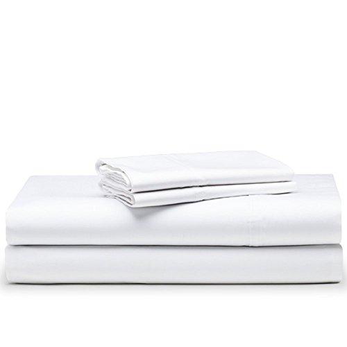 The White Basics - Santorini - Juego de Funda nordica con Bajera de Saten 300 Hilos 100% Algodon Peinado Cama de 150 cm.