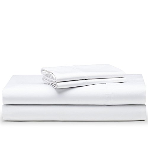 The White Basics - Santorini - Juego de Funda nórdica con Bajera Satén 300 Hilos 100% Algodón Peinado Cama 180 cm.