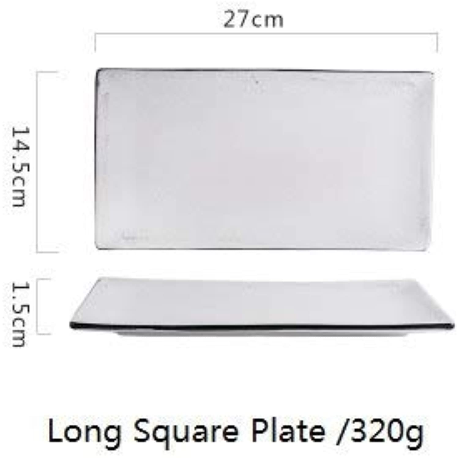 Nor and 2 olor erami Tableware matt finihing nner Plate Pot wholeale r Bowl for New houe mog   Long Plate (W)