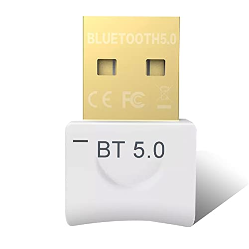 YiYunTE Adaptador Bluetooth 5.0 USB para PC Ordenador Transmisor Receptor Bluetooth para Auriculares Altavoz Teclado Bluetooth Adaptador USB para Portatil Adapter Bluetooth para Windows 10 8 7 Vista