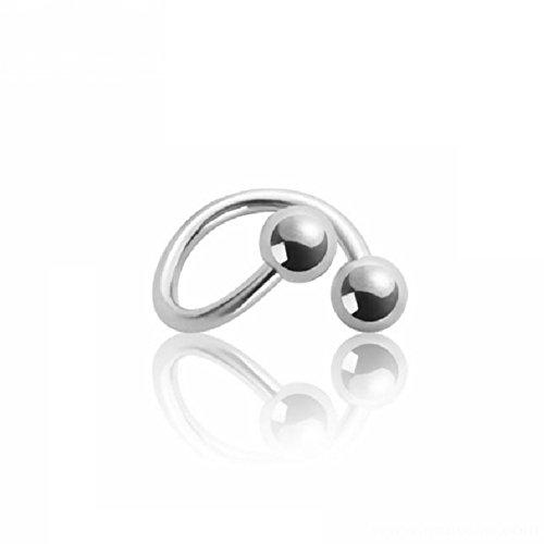 eeddoo Piercing-Spirale Helix-Piercing Silber Edelstahl Stärke: 1,2 mm Durchmesser: 10 mm 4 mm