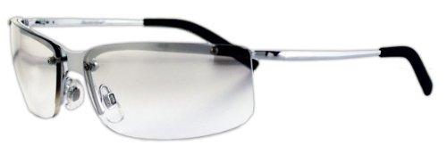 Unbekannt Sportbrille/Metallbrille mit klaren, leicht spiegelnden Gläsern