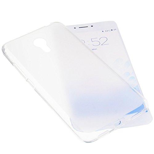 foto-kontor Tasche für Meizu M3 Note Gummi TPU Schutz Handytasche transparent weiß