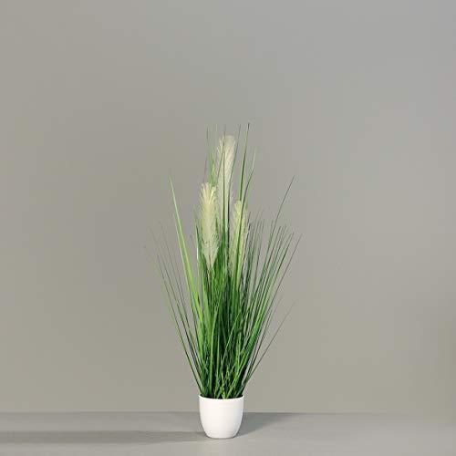 Zyperngras 70x50cm im schwarzen Hochtopf GA Kunstpflanze künstliches Gras