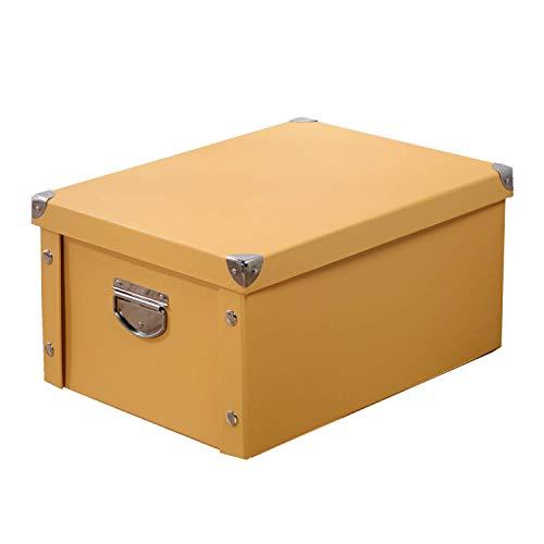 Pack de 3 cajas amarillas organizadoras