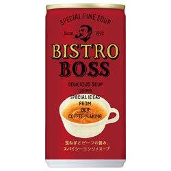 サントリー ビストロボス 玉ねぎとビーフの旨み、スパイシーコンソメスープ 185g缶×30本入