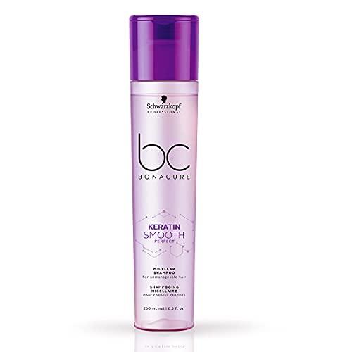 Schwarzkopf Professional BC Keratin Smooth Perfect Micellar Shampoo, Purple, 8.4 Fl Oz