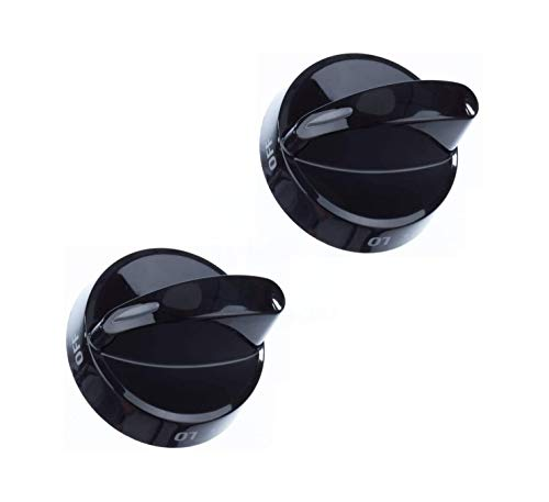 Lifetime Appliance 2 x 316442513 Surface Burner Knob Compatible with Frigidaire, Kenmore, Sears Range Oven