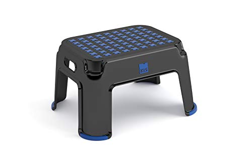Preisvergleich Produktbild KIS Step Stool Premium BK / BB PAL H.104,  Schwarz / Aluminium,  42.8 x 35.8 x 37.6