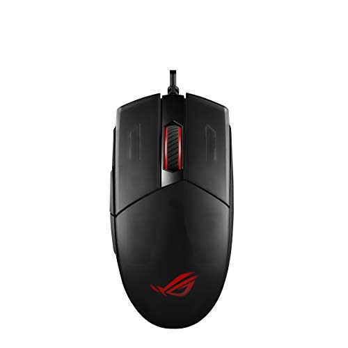 ASUS Optical Gaming Mouse Strix Impact II | 6200 DPI Sensor, 220 IPS | Ambidextrous & Ergonomic Wired Mouse | Aura Sync RGB | Configurated/Replaceable Mice Switches