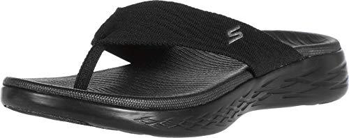 Skechers Women's ON-The-GO 600-SUNNY Flip-Flop, Black, 8 Medium US
