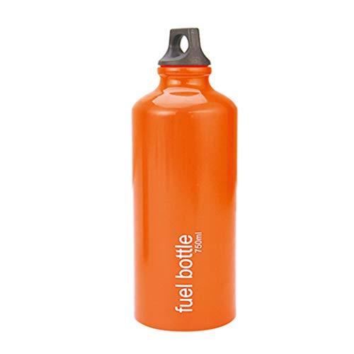 Outdoor Windproof Stove Dual Purpose Stove Liquid Fuel Bottle Emergency Oil Bottle (Color : Orange)
