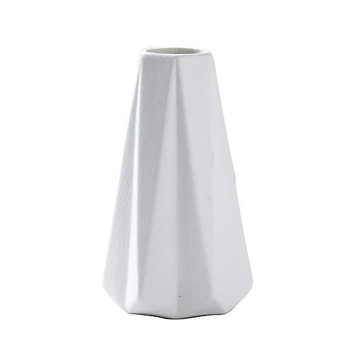 I3C Keramikvase Porzellan Vase Keramik Blumenvase Moderne Wohndekoration kleines Vase Blumenknospenvasen Premium Vase Deko-Vase rustikale Heimdekoration handgefertigt zum Muttertag (weiß)