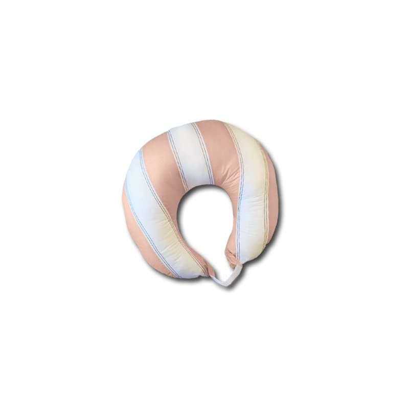 crib bedding and baby bedding bacati - metro pink/white/chocolate nursing pillow cover only
