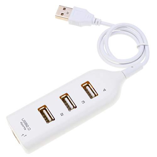 XJJZS Adaptador de concentrador de alta velocidad Concentrador USB Mini USB 2.0 Distribuidor de 4 puertos para PC computadora portátil receptor de computadora portátil accesorios periféricos de comput