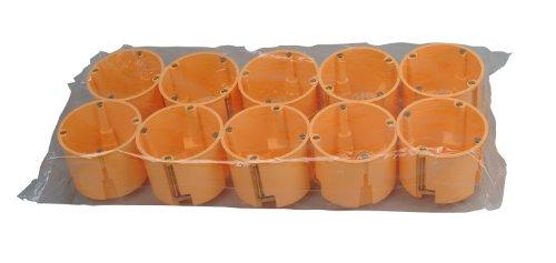 Kopp 355200043 Hohlwandschalterdose Isolierstoff, ø 68 mm, Dosentiefe 61 mm, Profi-Pack: 10-Stück im Karton