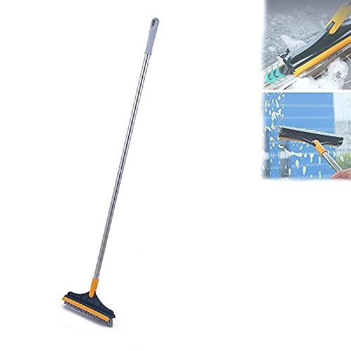 Cepillo de limpieza ajustable en forma de V 2 en 1, cepillo giratorio para limpieza de grietas en el piso de la cocina del baño, giratorio de 120 grados, lugares limpios de difícil acceso (Green)