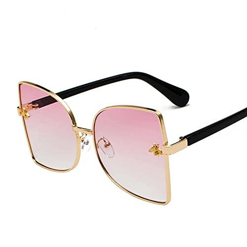 AMFG Gafas de sol de gafas de sol y gafas de sol grandes marco de mujer UV400 Gato Gato Personalidad Gafas de sombrilla Viaje al aire libre (Color : C)