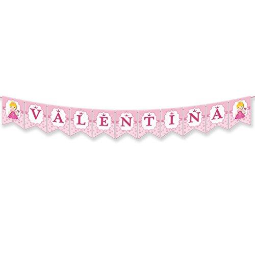 EuroFiestas Guirnalda Nombre Valentina, Liana, Ana, Anna, Anne o Eva