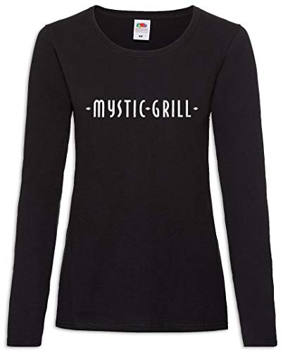 Urban Backwoods Mystic Grill Damen Langarm T-Shirt Schwarz Größe S