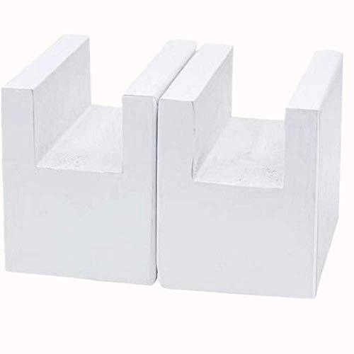 Mysummer Betterhöhung, Holz, Weiß, 4,8 cm, Möbelbeine für Möbel, Ersatzbeine für Sofa, Tisch, Schreibtisch, Bett, 2 Stück