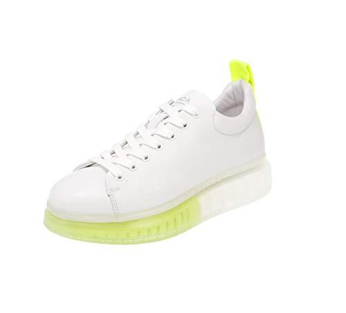Maca Kitzbühel 2832 - Damen Schuhe Sneaker - White-Yellow, Größe:40 EU