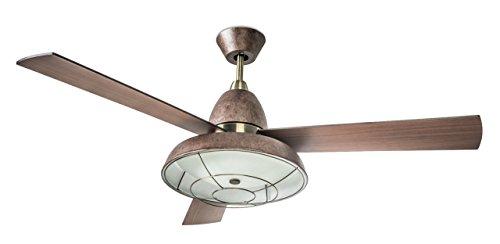 Leds-c4 vintage - Luminaria ventilador vintage 2xe27 60w oxido