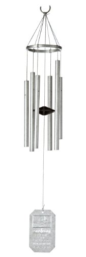 Grace Note Chimes 3LGN Himalayan Echo Wind Chimes, 24-Inch, Silver
