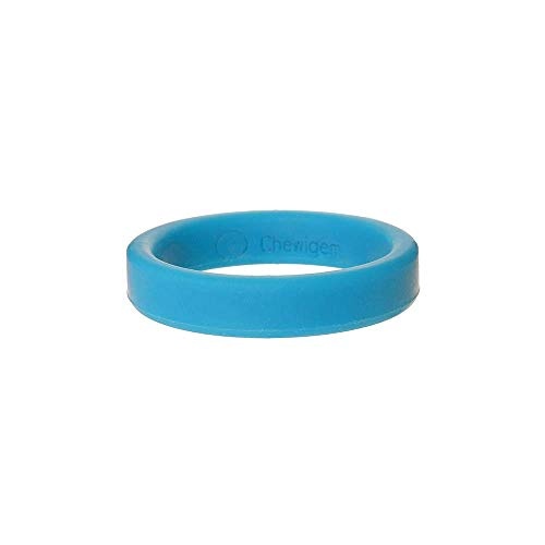 Chewigem - Infant Bangle - Sensory Chewing and stimming aid - Helps Calm and Focus - ADHD, SPD, Autism - Ages 3-6 Years (Blue)