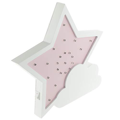 Amuzocity Cute Star LED 3D Night Light Juguete Lindo Del Regalo de Los Niños para - Rosado 1