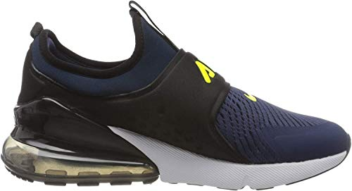 Nike Unisex-Kinder AIR MAX 270 Extreme (GS) Laufschuh, Midnight Navy Lemon Venom Black Anthracite, 38.5 EU