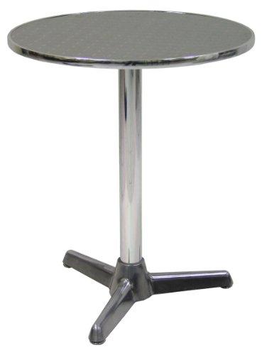 Savino Fiorenzo Tavolo tavolino con piede centrale per Bar Bistrot in Alluminio tondo da 60 cm Interno e Esterno