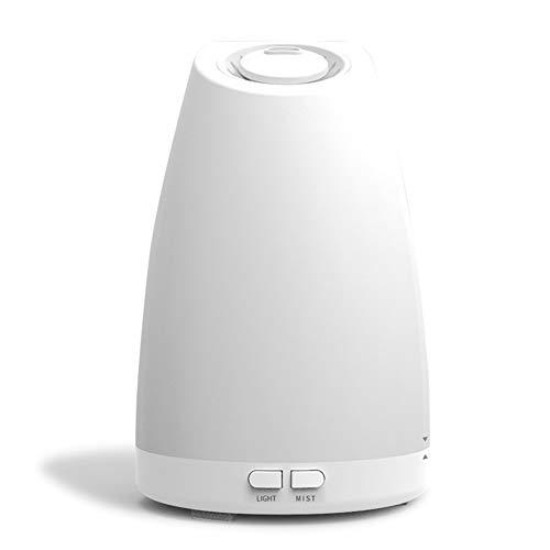LCZ Luftbefeuchter Ultraschall-Aromatherapie-Diffusor LED-Lampe Und Düfte, Inklusive Fernbedienung Und Antibakterielle Filter,Weiß