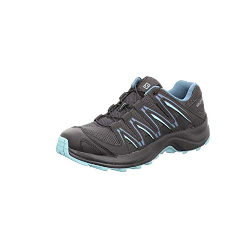 Salomon Women's XA Kuban W Trail Running Shoe, phantom/black/nile blue, 5