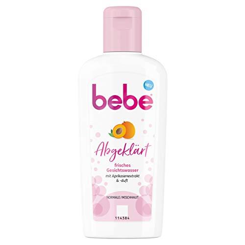 Bebe Abgeklärt frisches Gesichtswasser mit Aprikosenextrakt und -duft, Normale/Mischhaut, 200 ml