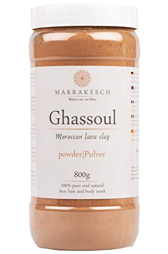 MARRAKESCH Ghassoul Lavaerde Pulver 800g | Original Marokkanische Tonerde als Gesichtsmaske für Gesichtsreinigung | Natürliches Peeling für Gesicht Haut und Haare | Wascherde als Körperpflege