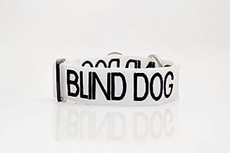 Blind Dog - Collar con Hebilla S-M L-XL con código de Color Blanco para Advertir de Advertencia de Perro (No/Limitada Vista) para Evitar Accidentes por Advertencia a Otros de su Perro por Adelantado
