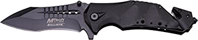 """MTech USA MT-A845BK SPRING ASSISTED KNIFE, 5"""" Closed, Black Blade"""