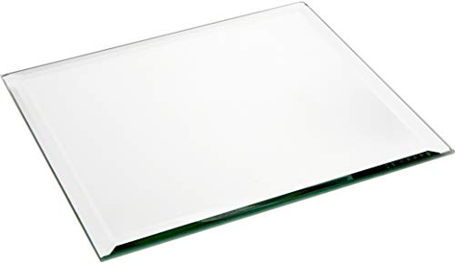 Plymor Square 5mm Beveled Glass Mirror, 8 inch x 8 inch (Pack of 3)