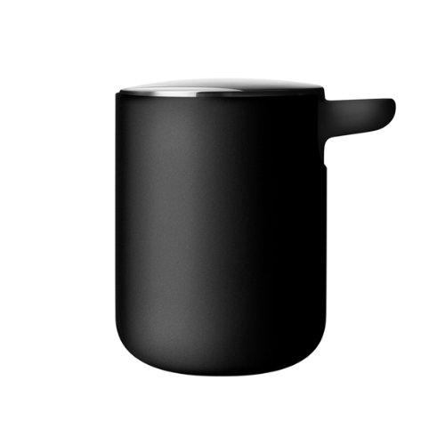 Menu Bath Series Seifenspender, schwarz pulverbeschichtet H 11cm Ø 8,5cm 300ml