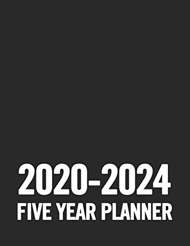 2020 - 2024 Five Year Planner: Black and White 5 Year Planner: 60 Months Calendar and Organizer, Monthly Planner with Holidays. Plan and schedule your next five years.