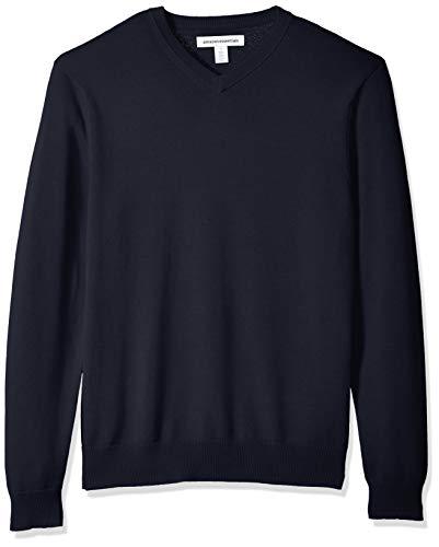 Amazon Essentials Herren V-neck Sweater Pullover, Navy, XXL