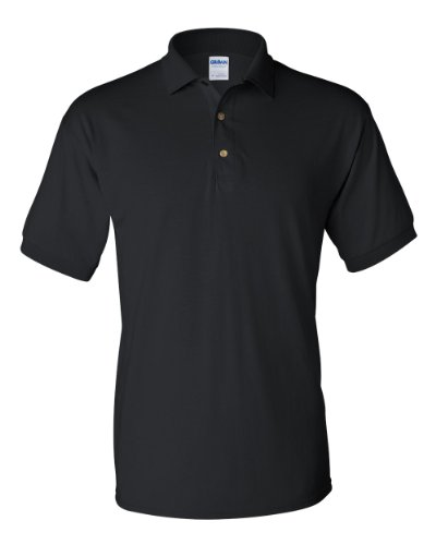 Gildan DryBlend 6-Ounce Sport Shirt with Pocket, Black, X-Large. ( Pack10 )